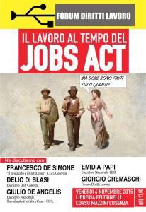 iniziativa Cosenza 5 novembre lavoro e JA